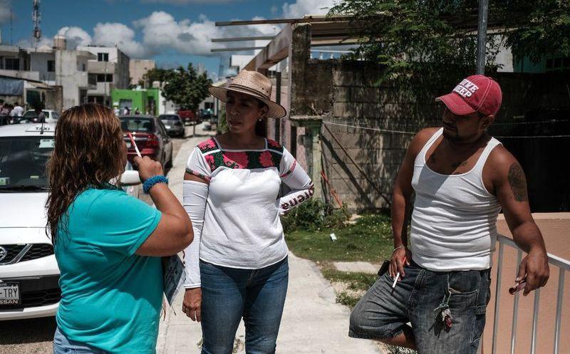 Marybel Villegas Canché, visitó el municipio de Solidaridad este miércoles, compartiendo sus propuestas. (SIPSE)