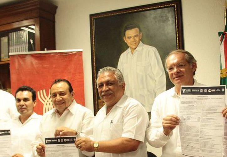 Imagen de la rueda de prensa donde fue anunciada la convocatoria de la fase estatal de los XXV Juegos Nacionales de los Trabajadores 'Ricardo Flores Magón'. (Milenio Novedades)