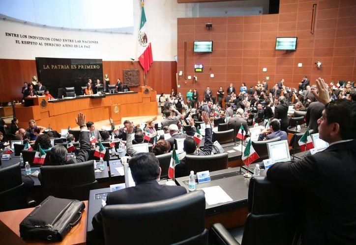 El l senado aprobó con 81 votos a favor y 20 en contra las reformas al artículo 4° transitorio. (Notimex)