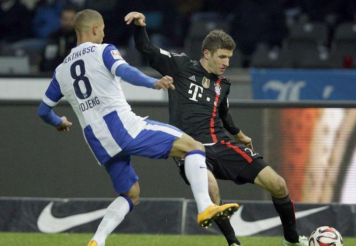 El Bayern solo pudo meterle uno a uno de los más débiles de Alemania. (Foto: AP)
