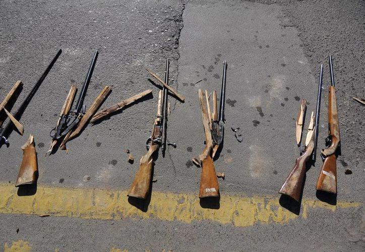 Cada año el estado decomisa las armas de unos dos mil ciudadanos. (Agencias)