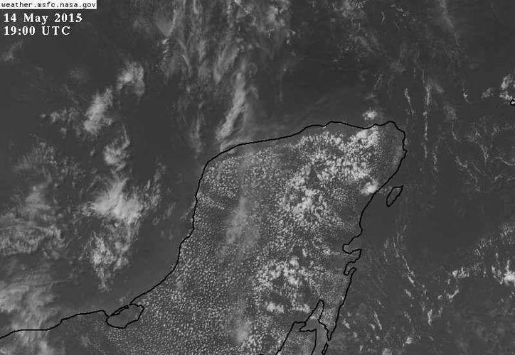De acuerdo con los pronósticos, las precipitaciones más fuertes se pudieran concentrar en el centro y occidente de Yucatán. (Conagua)
