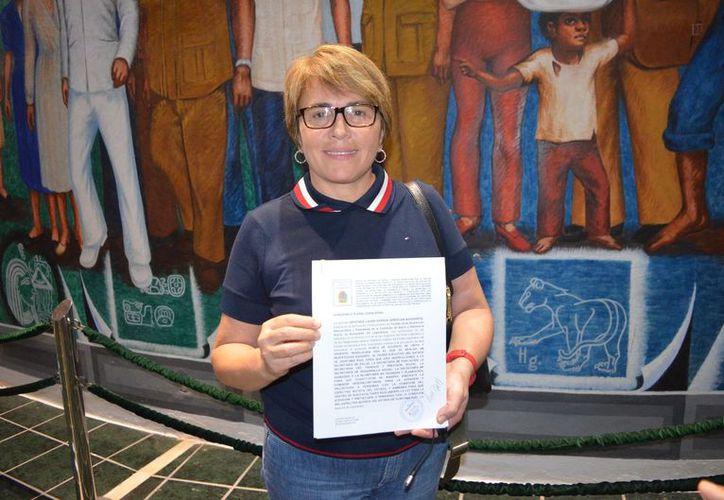 La diputada presentó la propuesta ante el Congreso de Quintana Roo. (Cortesía)