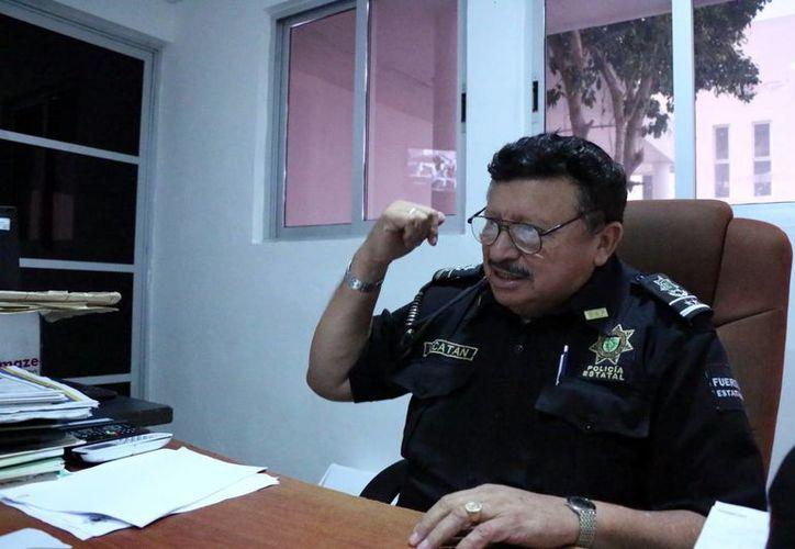 Federico Cuesy, jefe de la Policía Municipal de Kanasín, asegura que en el municipio hay personas que  son oriundas de Tabasco, de Chiapas e incluso de Veracruz. (Milenio Novedades)