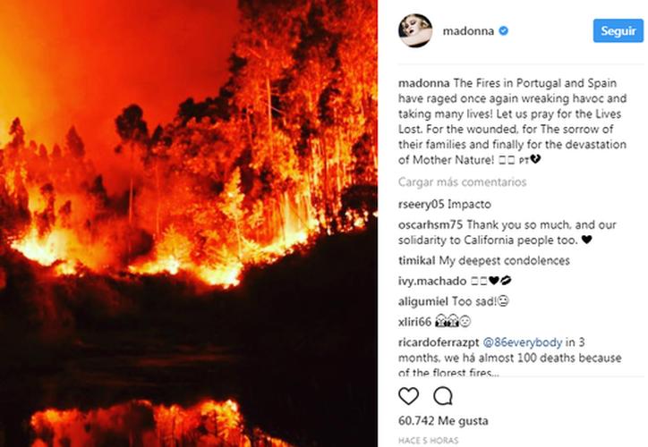 Acompañó su mensaje con una fotografía de un bosque en llamas. (Foto: Diario de Navarra)