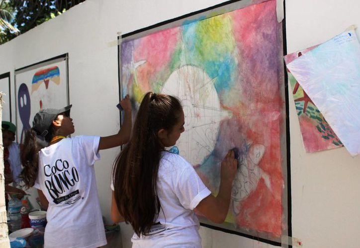 Los murales tiene el objetivo de crear conciencia y cuidar el planeta. (Octavio Martínez/SIPSE)