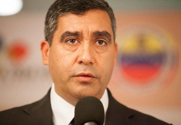 El ministro del Interior de Venezuela, Miguel Ángel Rodríguez, señaló a Victoria López como quien administraba negociaciones ilegales supuestamente a cargo del alcalde de Valencia. (EFE/Archivo)
