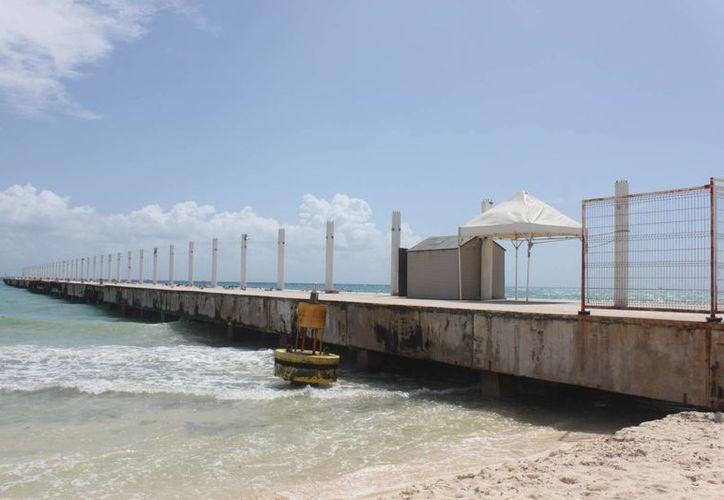 Ambientalistas buscan lograr la demolición del muelle de Ultramar en Playa del Carmen. (Adrián Barreto/SIPSE)