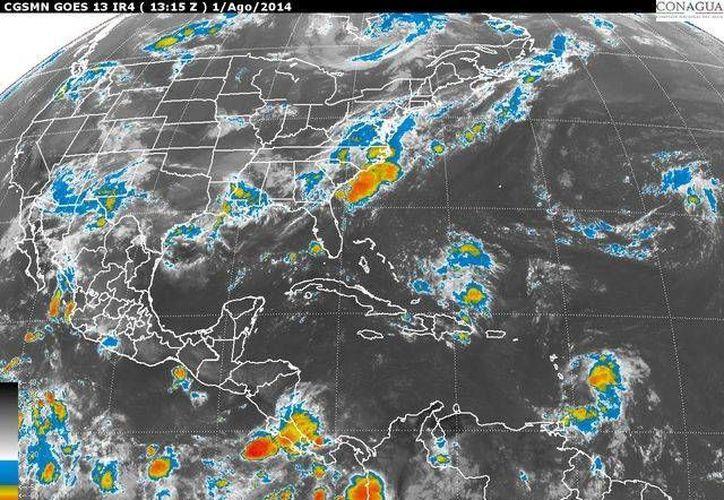 La probabilidad de precipitaciones en la Península de Yucatán es de 80%. (Redacción/SIPSE)