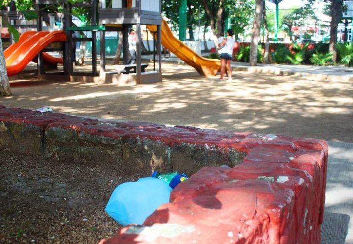 El parque de la colonia Gonzalo Guerrero de Playa del Carmen será limpiado por un grupo de ciudadanos. (Daniel Pacheco/SIPSE)