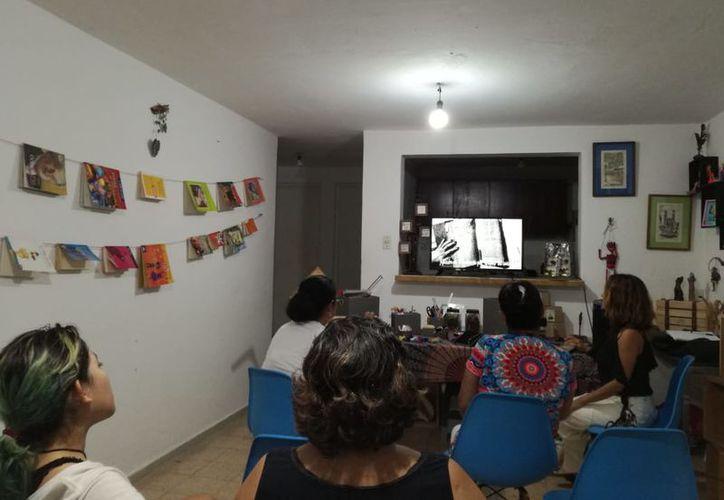 Durante las actividades se presentaron algunas imágenes y un video que fue proyectado. (Faride Cetina/SIPSE)