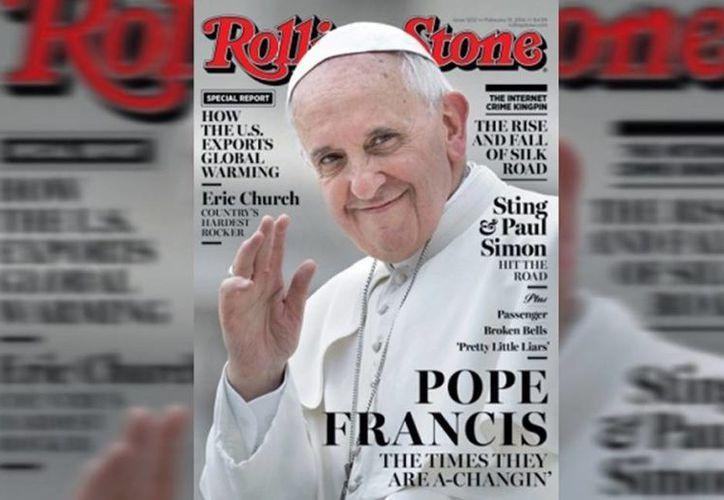 La portada de la revista Rolling Stone dedica su más reciente edición su portada y un artículo al Papa Francisco. (Internet)