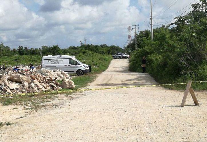 La zona fue acordonada por personal de Seguridad Pública. (EricGalindo/SIPSE)