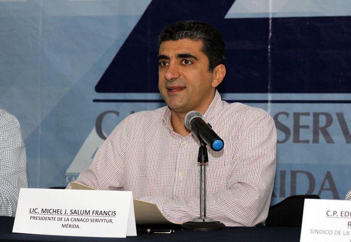 Michel Salum Francis, quien funge como actual presidente de la Canacome. (SIPSE)