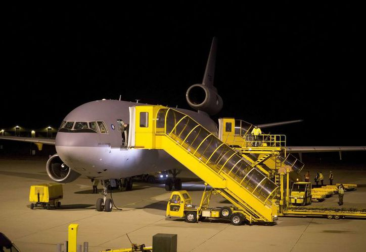Un avión del Ministerio de Defensa holandés con 56 evacuados de la ciudad de Juba, Sudan del Sur. (EFE)