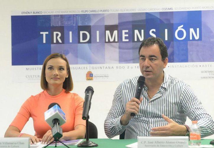 Las obras de arte se expondrán en la Casa de la Cultura de Cancún durante abril. (Redacción/SIPSE)