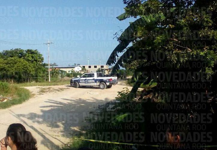 La zona fue acordonada por la Policía Municipal. (Eric Galindo/ SIPSE)