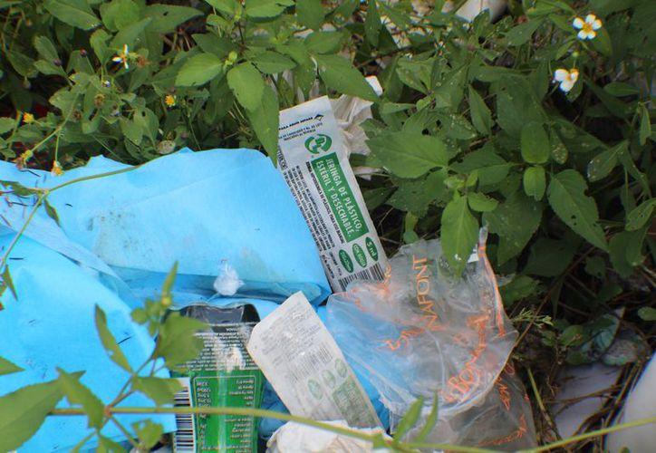 No se descartó que la basura dejada en Tajamar sea de un particular. (Karim Moisés)