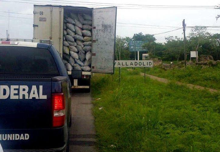 Autoridades federales realizan operativos en carreteras para evitar el comercio ilegal de combustible natural. (Milenio Novedades)