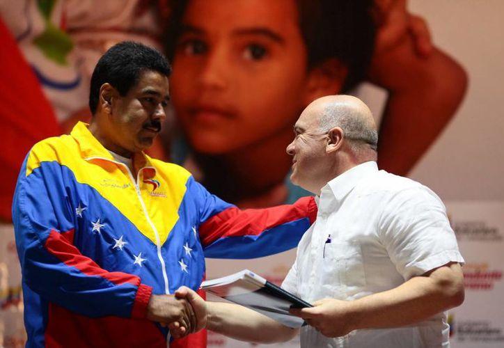 """""""Son un ejemplo a seguir"""", destacó Nicolás Maduro. (EFE)"""