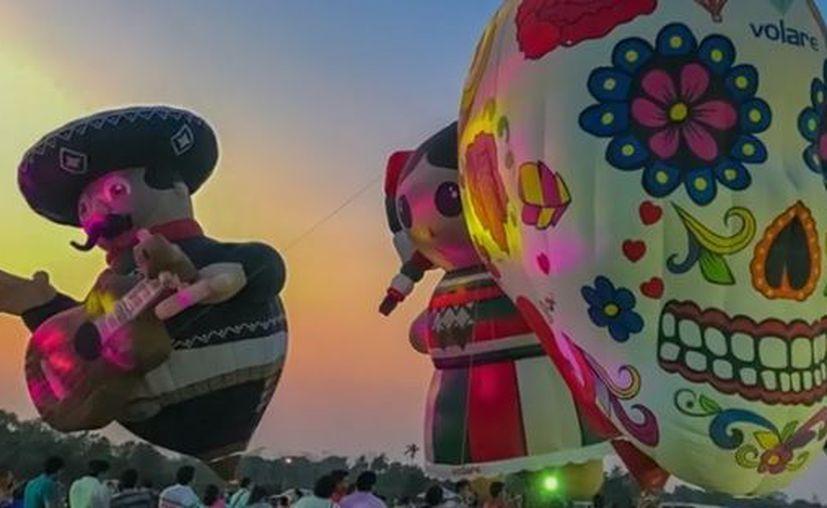 Imagen de los globos que trae el espectáculo de la Fiesta del Globo. (Captura de pantalla)