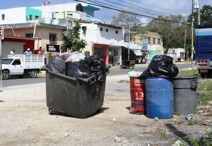 Vecinos afirman que la falta de recoja de basura, se agudiza principalmente cuando las administraciones municipales están a punto de concluir los periodos. (Octavio Martínez/SIPSE)
