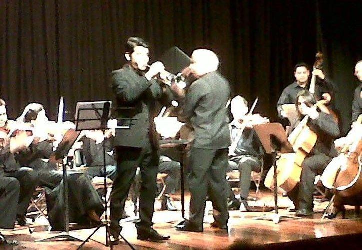 El concierto del miércoles en el Auditorio del Centro Cultural Olimpo, correspondiente al Mérida International Brass Festival 2013, tuvo contrastes. (Milenio Novedades)