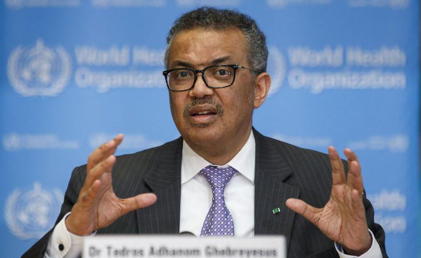 Tedros Adhanom Ghebreyesus, director general de la Organización Mundial de la Salud, habla durante una conferencia en Ginebra, Suiza, (Foto: Archivo AP).