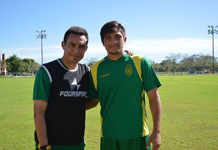 Ignacio Carrasco y Ulises Briceño, una dupla que promete muchos goles para esta temporada del CF Mérida. (Milenio Novedades)