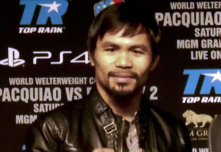 Se espera que el próximo año el mundo del boxeo pueda apreciar la pelea esperada ente Manny Pacquiao (foto) y Floyd mayweathwer. (Archivo Notimex)