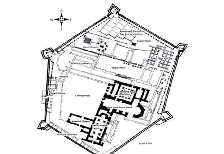 Amplia maqueta de La Ciudadela de San Benito, por donde están ahora los mercados municipales y que en tiempos ya lejanos, fue una gran obra ceremonial de la cultura maya. (SIPSE)