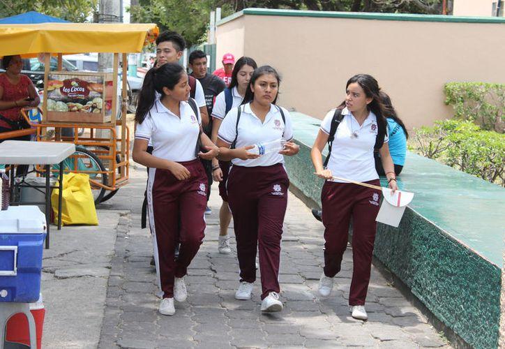 El próximo viernes 13 será de buena suerte para el 100% de los estudiantes de Quintana Roo, pues inician las vacaciones.  (Joel Zamora/SIPSE)