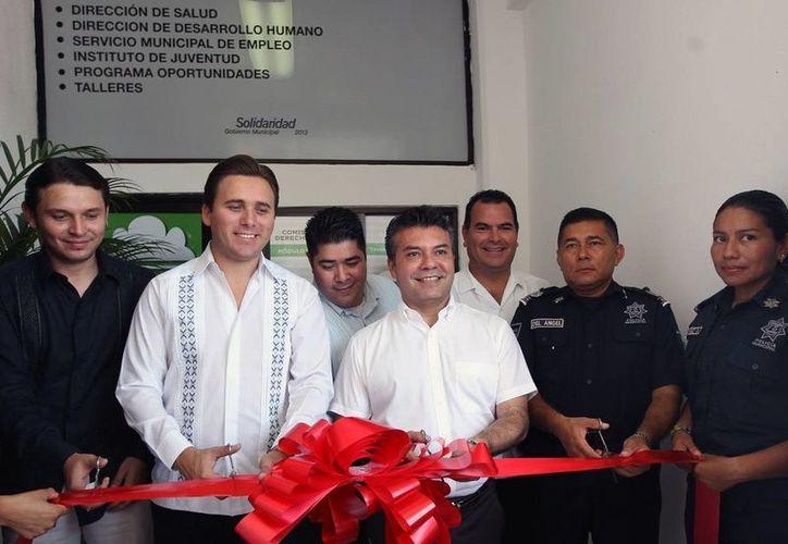 Además del curso a los policías, también se inauguró la oficina de la Cdheqroo, ubicada en el edificio del Ayuntamiento de Solidaridad.  (Redacción/SIPSE)