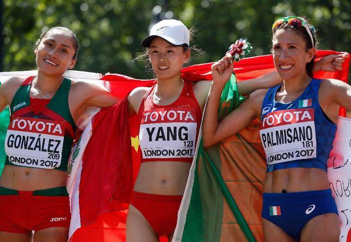 La subcampeona olímpica estuvo siempre en el grupo de cabeza junto a las chinas. (La Jornada)