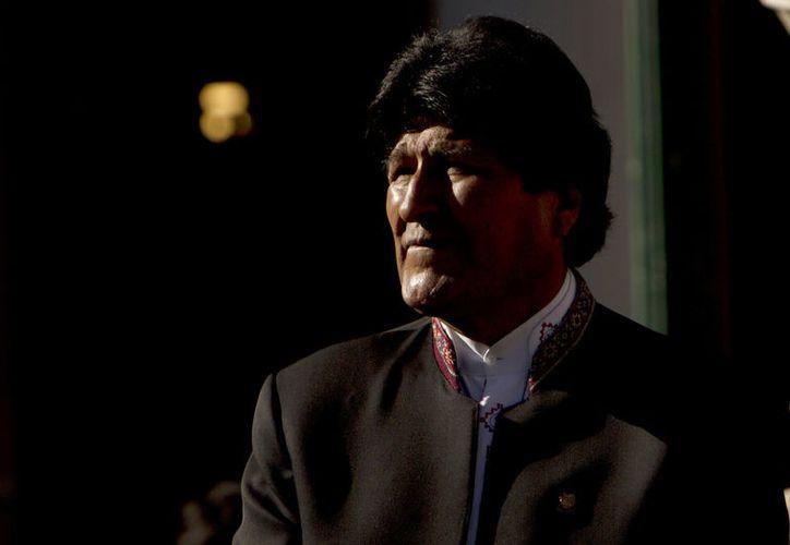 """Morales, candidato del Movimiento Al Socialismo (MAS), sostuvo que Bolivia vive un proceso de cambio """"sin retorno"""". (AP Foto/Juan Karita, Archivo)"""