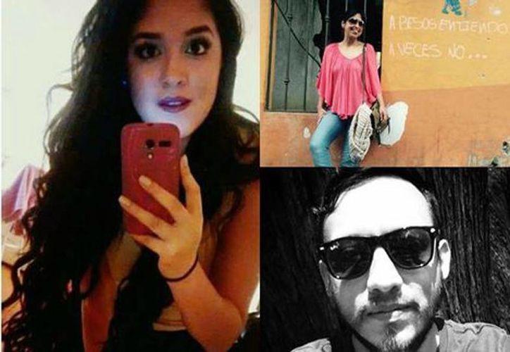 Yesenia (izquierda), Nadia (superior-derecha) y Rubén (inferior-derecha). La Pgjdf tramita el Fondo de Atención y Apoyo a Víctimas para los familiares de las cinco ejecutados. (Milenio)