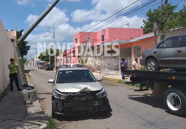 Afortunadamente no se registraron lesionados. (Novedades Yucatán)