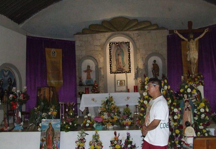 La iglesia de Guadalupe prepara los festejos en honor a la Virgen de Guadalupe. (Rossy López/SIPSE)