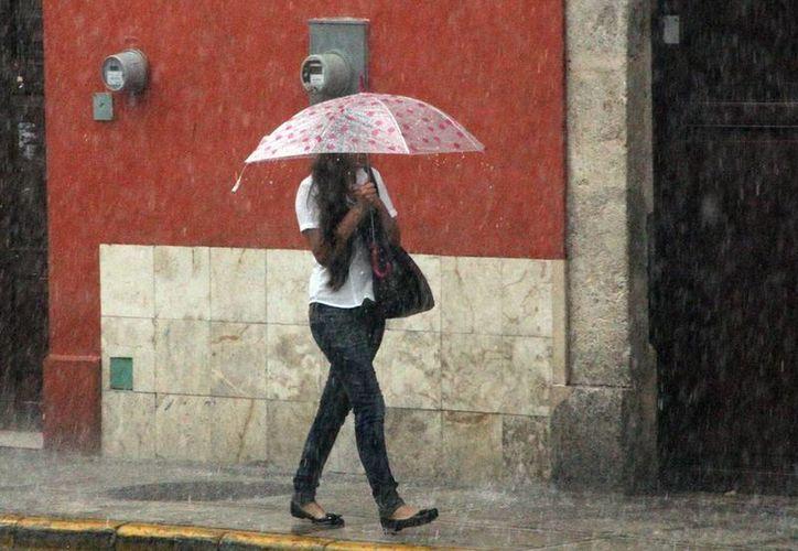 Fuerte lluvia cayó anoche en Mérida; no quitó el calor. (José Acosta/SIPSE)