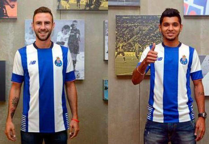 Miguel Layún y Jesús 'Tecatito' Corona fueron considerados por el técnico del Porto, el español Julen Lopetegui, para enfrentar este martes el juego de la Copa de la Liga contra el Marítimo. (Twitter: @TiempoReal_mx)