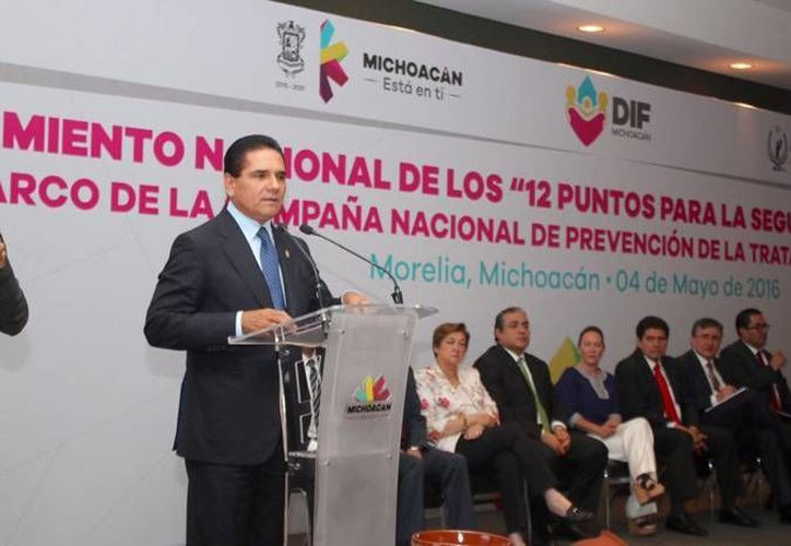 La CNDH lanzó desde el estado de Michoacán la campaña '12 puntos para la seguridad de tu familia'. (CNDH)