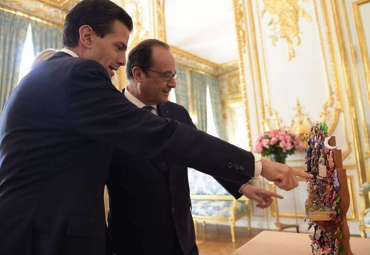 Peña Nieto y Francois Hollande reconocieron que las relaciones entre ambas naciones no pasaban por su mejor momento. (Notimex)