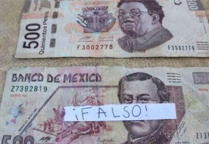 El billete falso se debe llevar a un banco. (excelsior.com)