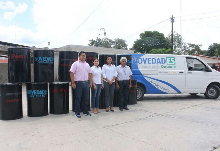 El acto se realizó en el estacionamiento del Palacio Municipal de Felipe Carrillo Puerto. (Jesús Caamal/SIPSE)