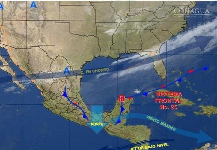 Este domingo la temperatura será cálida en Quintana Roo, durante el día. (Conagua)