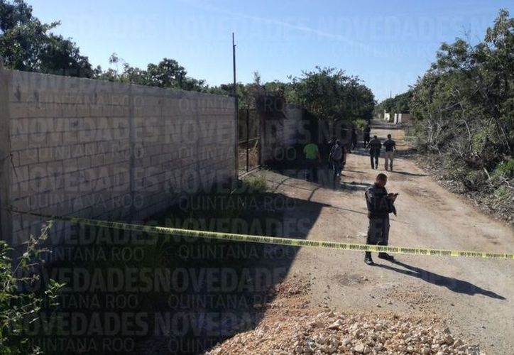 La zona fue acordonada por los elementos policíacos. (Pedro Olive/ SIPSE)