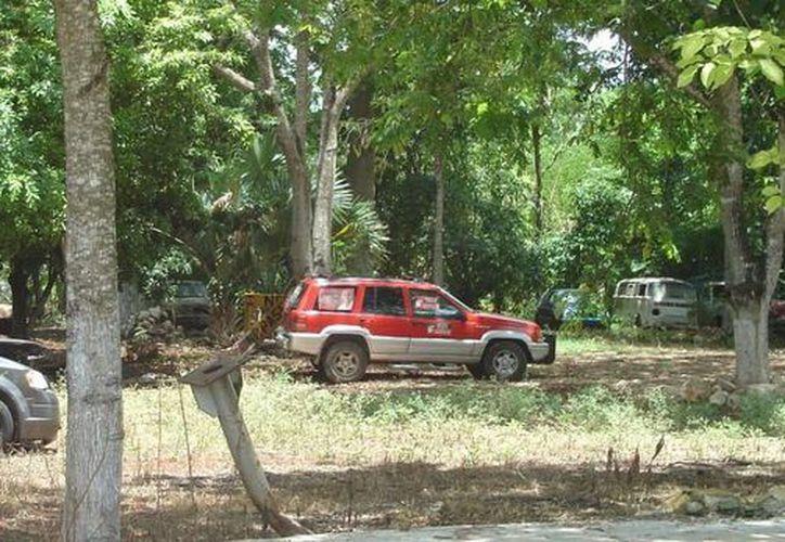 Hay vehículos abandonados desde hace mas de 15 años en el corralón (Carlos Yabur/SIPSE)