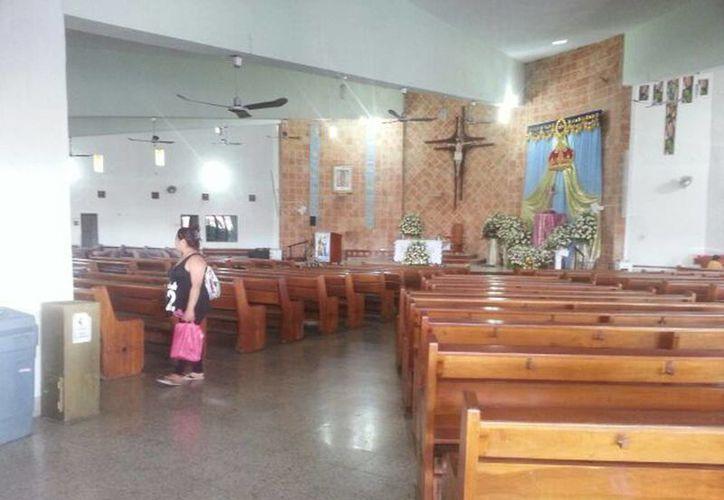 La parroquia de Cristo Rey, en Pacabtún, celebra al Divino Niño. (William Sierra)