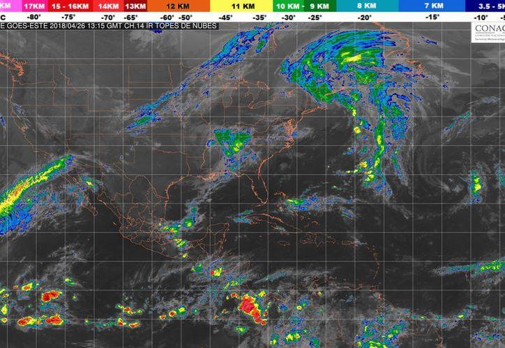Durante el día de hoy se espera la formación de tormentas por la tarde en Playa del Carmen. (Conagua)