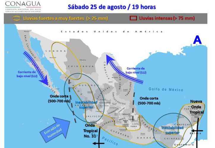 Para hoy se espera parcialmente nublado, la probabilidad de lluvias es del 50 por ciento con tormentas en la tarde en Chetumal. (Conagua)